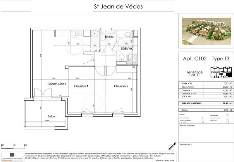 appartement t3 r 1 lot c102 saint jean de v das saint jean de v das herault supinvest. Black Bedroom Furniture Sets. Home Design Ideas