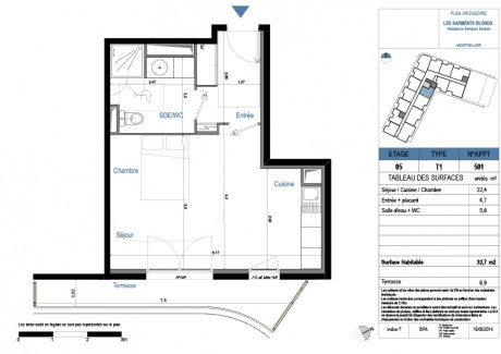 Appartement t1 r 2 lot c37 id al campus for 501 plan