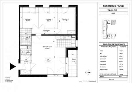 Maison t4 rdc r 1 lot lot 09 les villas s r s le for Plan maison t4