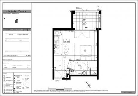 Appartement t1 rdc lot da003 c t parc bayonne for Deco appartement t1