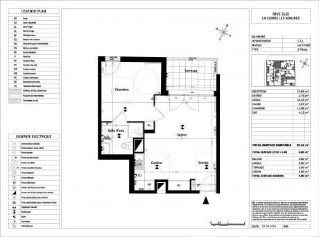 appartement t2 r 3 lot b133 esterel garden fr jus var supinvest. Black Bedroom Furniture Sets. Home Design Ideas