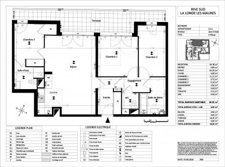 appartement t4 4 me tage lot e041 lumina r sidence toulon var supinvest. Black Bedroom Furniture Sets. Home Design Ideas