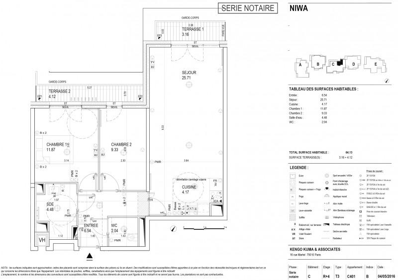 appartement t3 r4 lot c401 niwa vanves hauts de seine supinvest. Black Bedroom Furniture Sets. Home Design Ideas