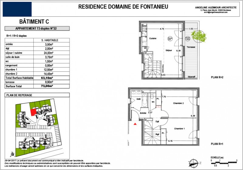 plan appartement r+2