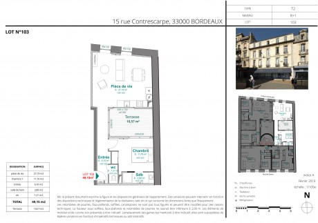 Lot-103 T2 Duplex - Bordeaux, Rue Contrescarpe