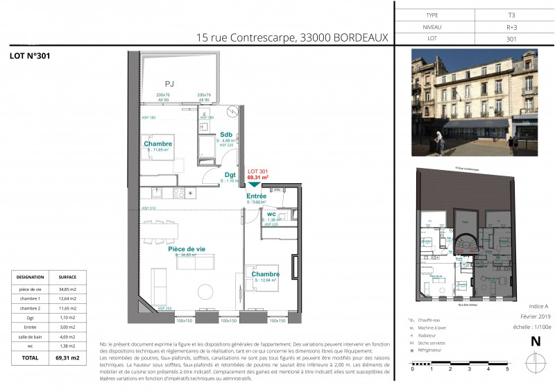Lot-301 - Bordeaux, Rue Contrescarpe