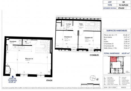Lot 5 T3 DUPLEX - Le Bailly