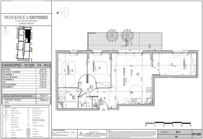 Appartement T4 - R+3 - LOT 01C228 - L Odyssée - Anglet - Pyrenees ... 82dfbf2cf5b