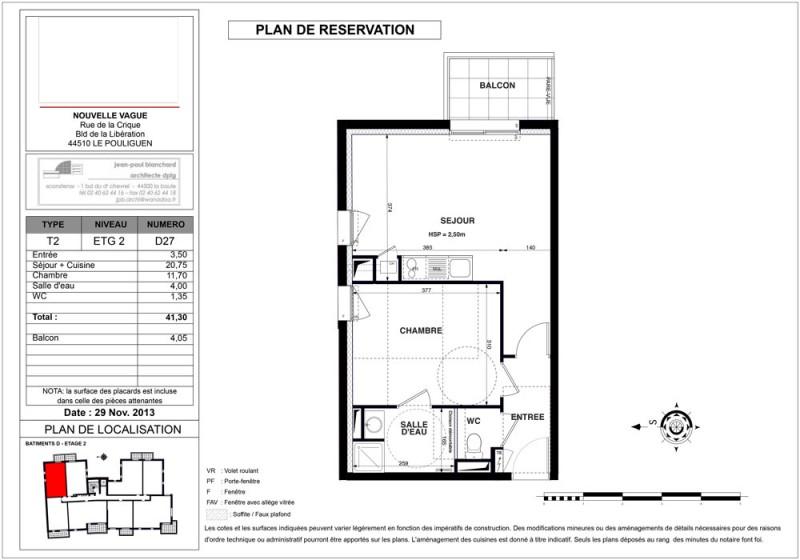 appartement t2 r 2 lot lot d27 nouvelle vague le pouliguen loire atlantique supinvest. Black Bedroom Furniture Sets. Home Design Ideas