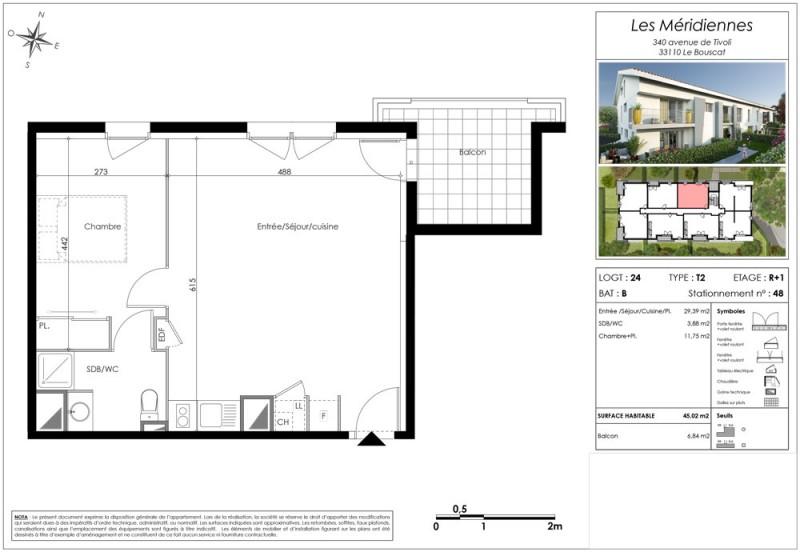 Appartement T2 R 1 Lot Lot 24 Les Meridiennes Le Bouscat