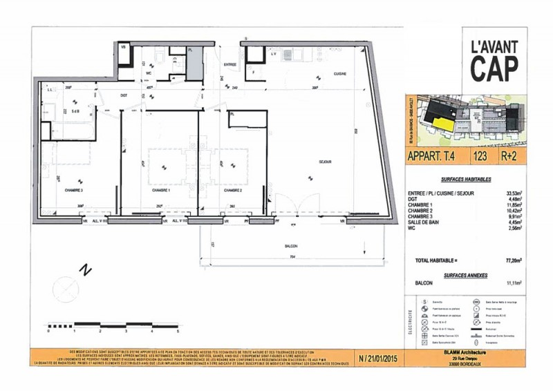 Appartement T4 - R+2 - LOT n°123 - L Avant Cap - Anglet - Pyrenees ... db5addb9ec0
