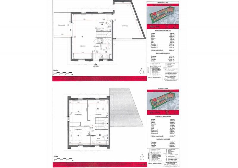 Maison T4 - RDC R+1 - LOT Lot 101 - Herrixka Lore - Villefranque ... e81ed731062