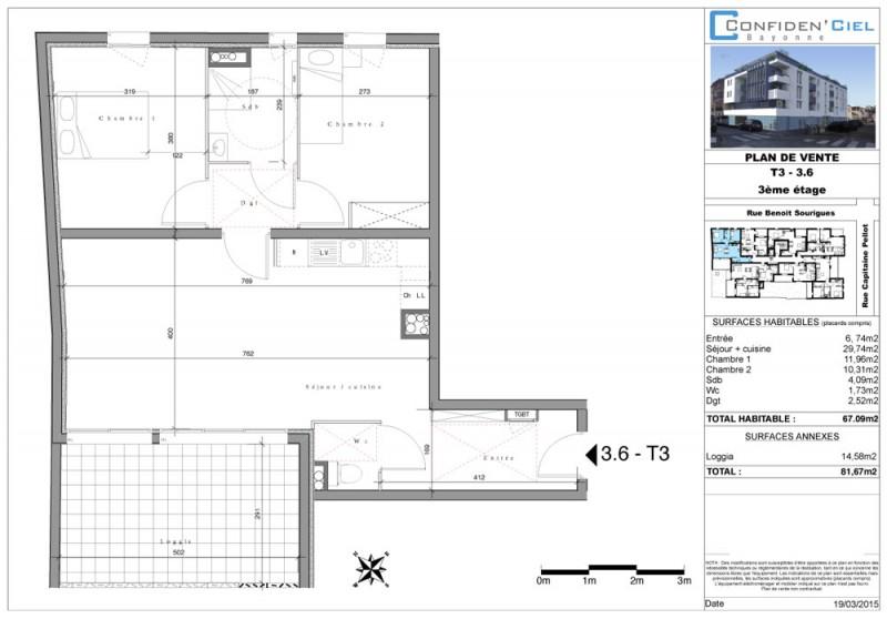 Appartement T4 - R+3 - LOT Lot 3.6 - Confiden Ciel - Bayonne ... d47c9e02ff1